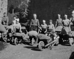 APV_Sammlung_1930 - Kandersteg - Fuehrerarbeitslager - Saegmehl