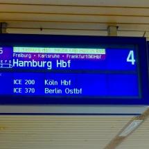 Anzeigetafel Bad. Bahnhof